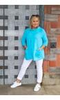 Amazing Woman Turquoise Lexia Linen Top
