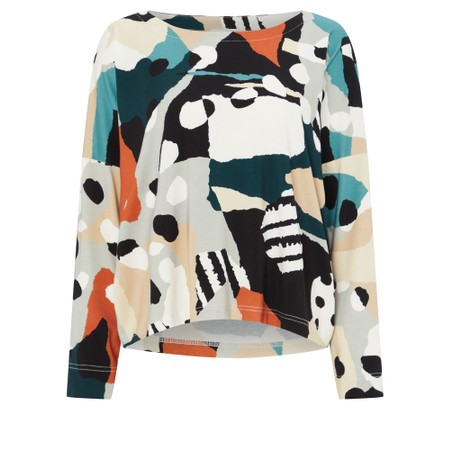 Sahara Abstract Jersey Print Easy Top - Multicoloured