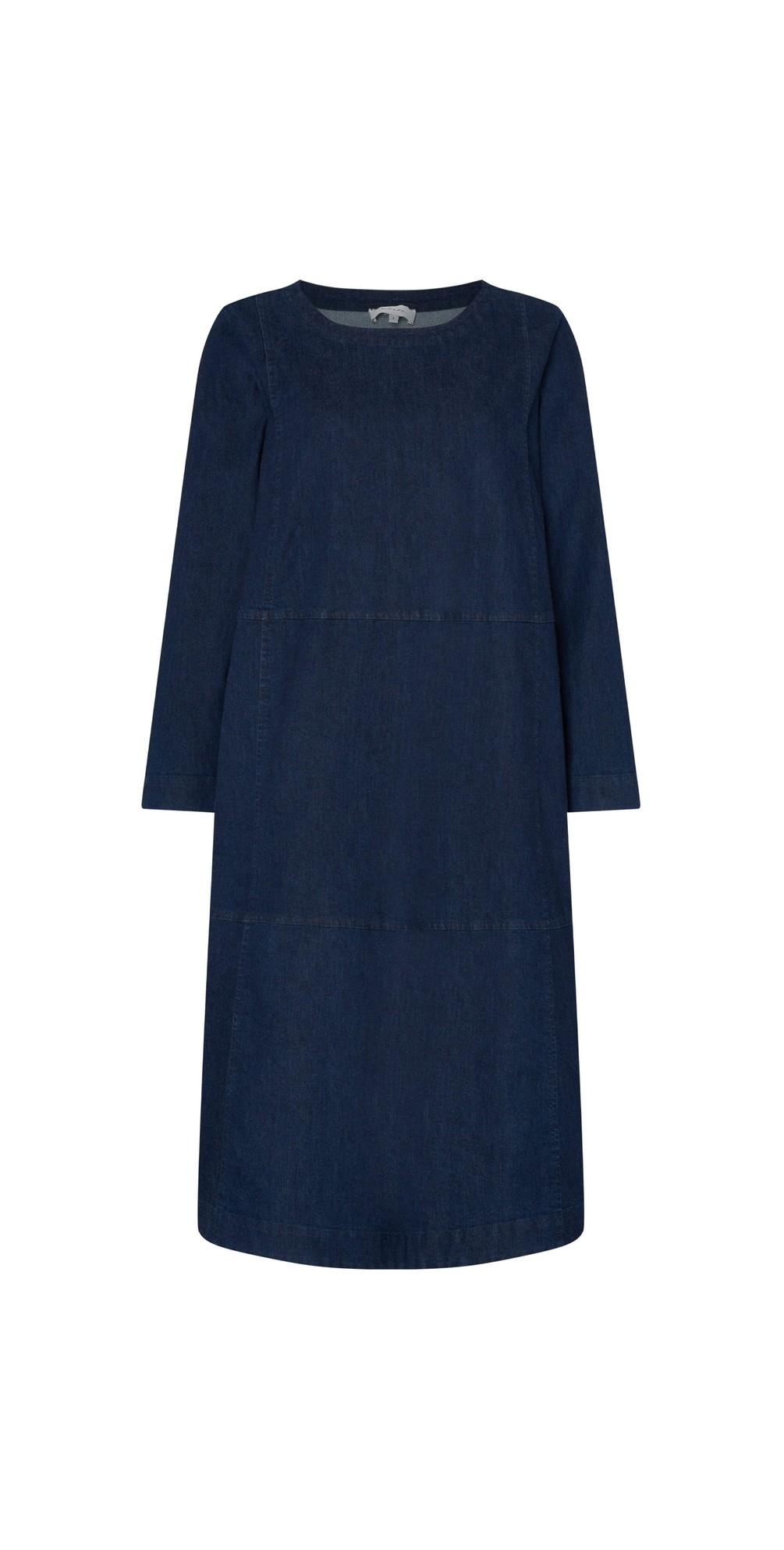 Stretch Denim Flared Dress main image