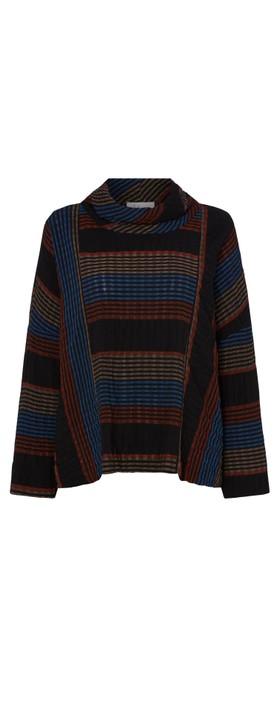 Sahara Crinkle Stripe Top Multi