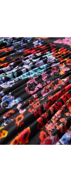 Sahara Winter Floral Crepe Dress Multi