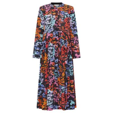 Sahara Winter Floral Crepe Dress - Multicoloured