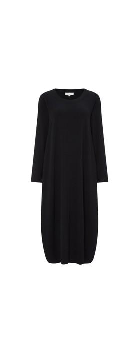 Sahara Velvet Jersey Bubble Dress Black