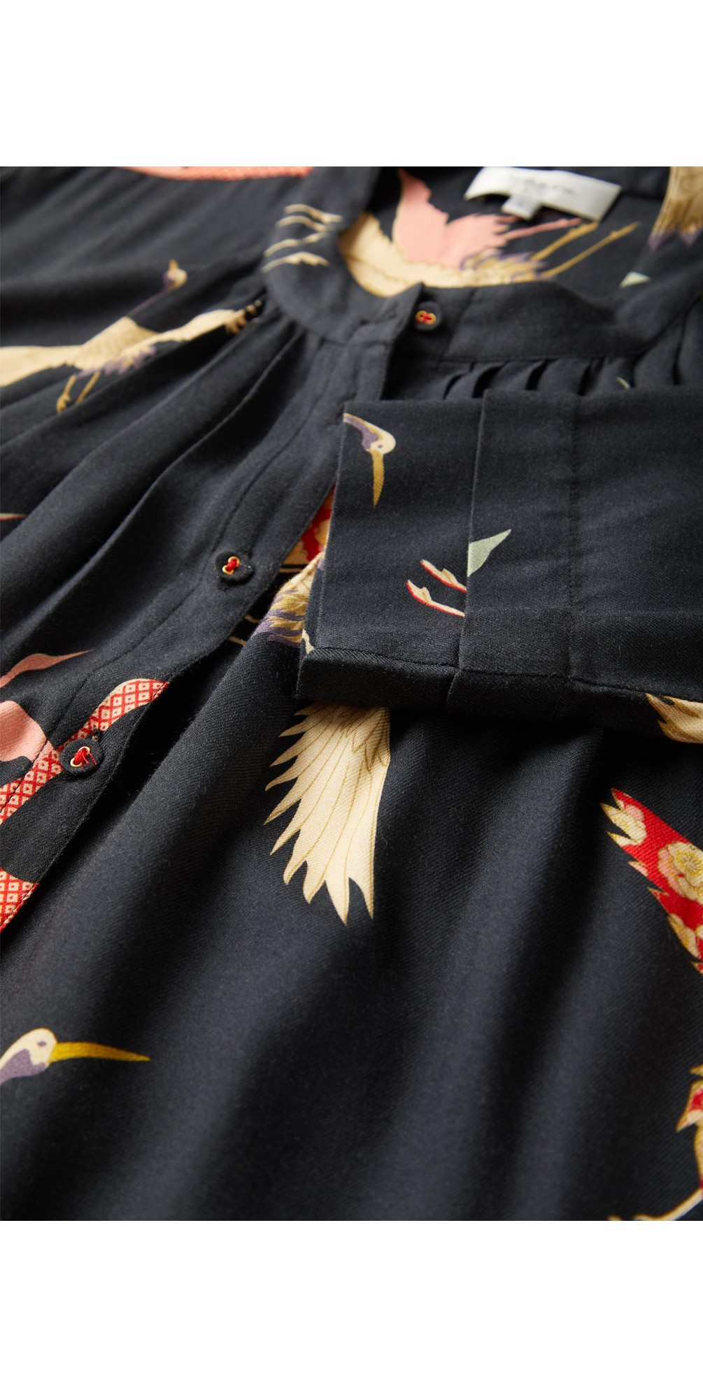 Flying Crane Print Dress main image
