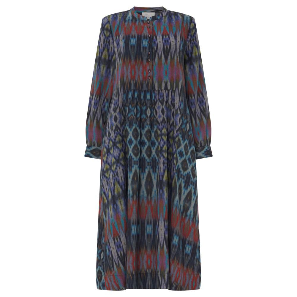 Sahara Patched Ikat Print Dress Multi