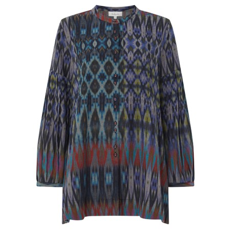 Sahara Patched Ikat Print Shirt - Multicoloured