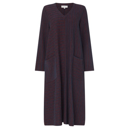 Sahara Spacedye Stripe Jersey Dress - Purple