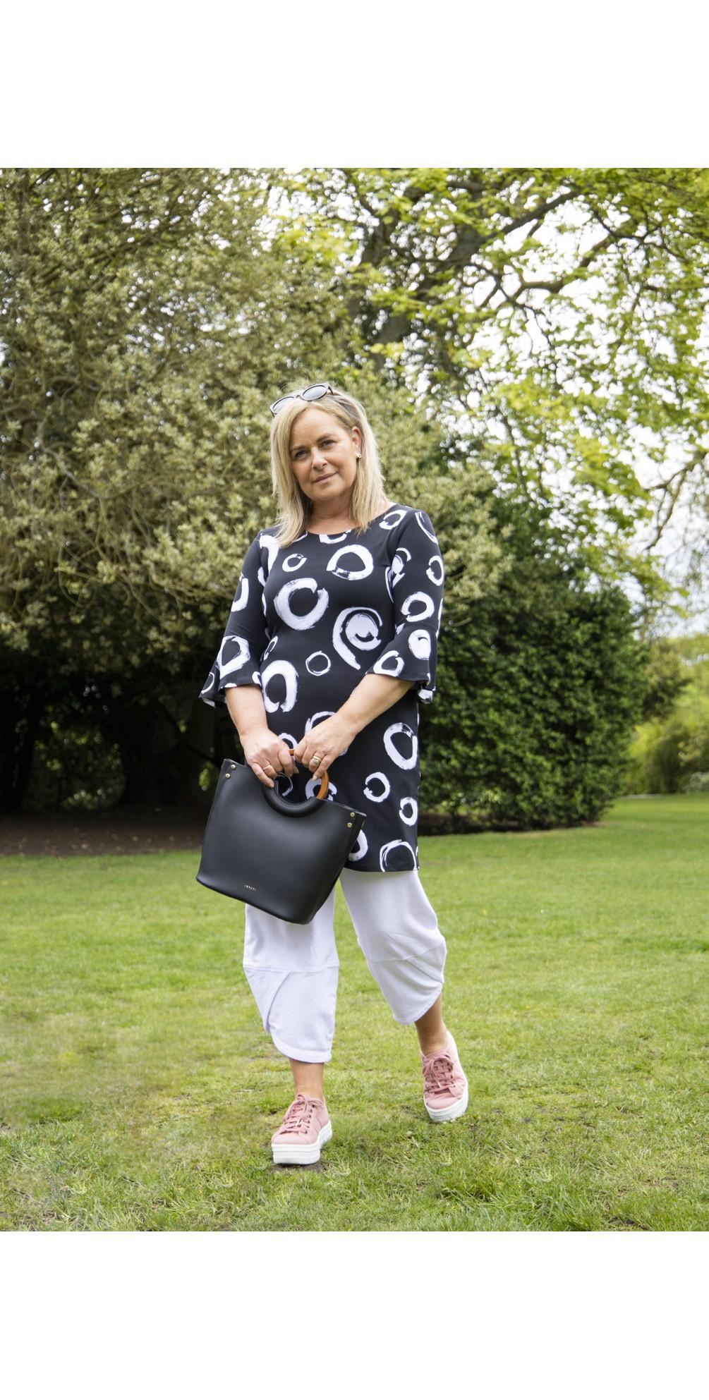 Viviana Faux Leather Top Handle Bag main image