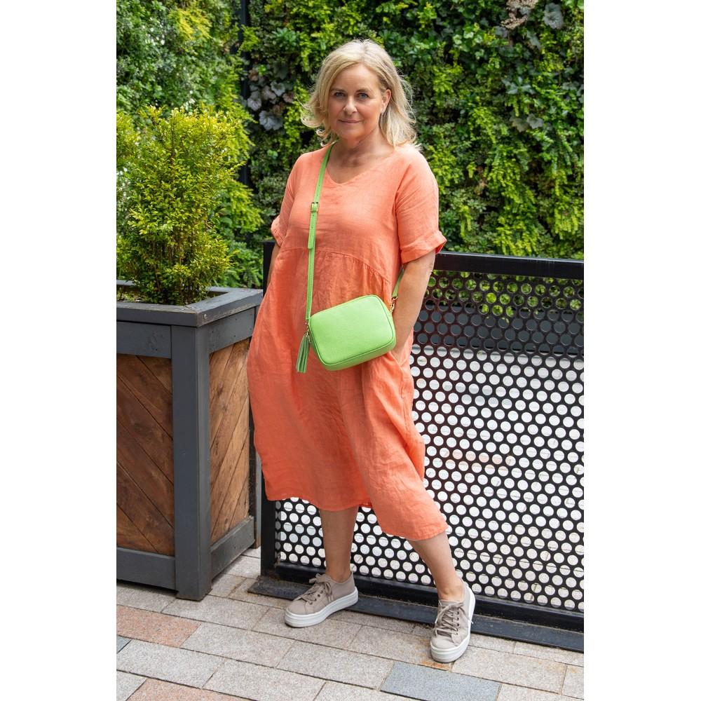 Gemini Label Bags Connie Cross Body Bag Lime