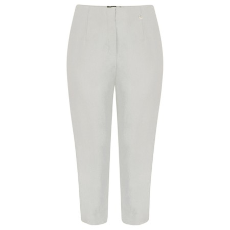 Robell Marie 07 Stone Grey Cropped Trouser - Grey
