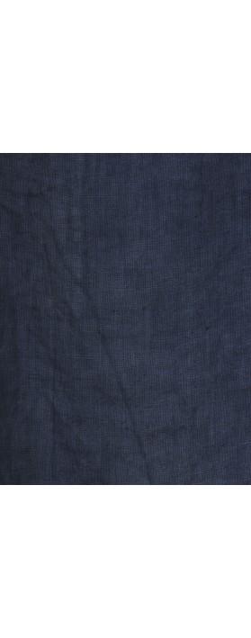 Amazing Woman Melia Short Sleeve Linen Top Navy Blue