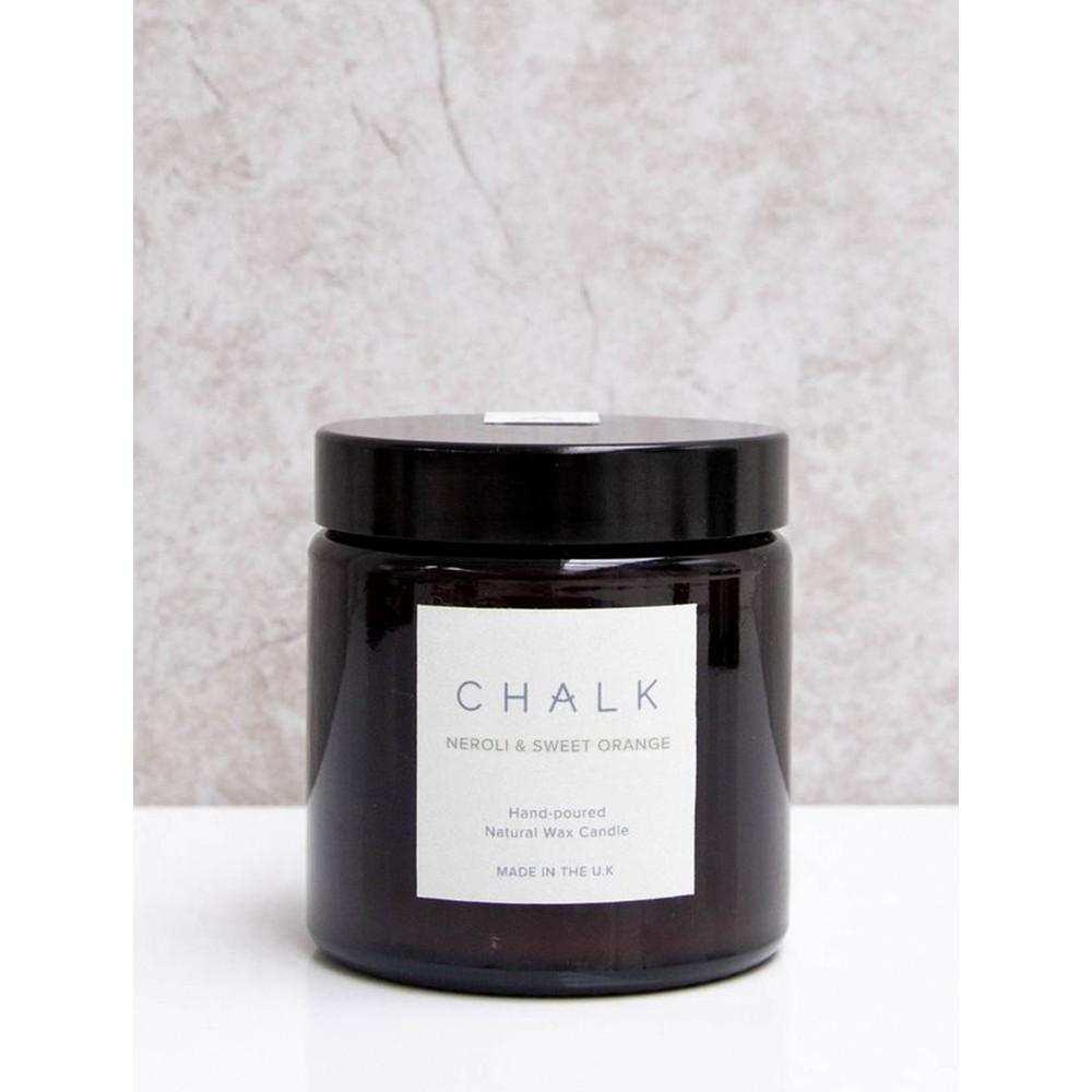 Chalk Home Neroli and sweet Orange Amber Glass Apothecary Small Candle Jar Neroli and Sweet Orange