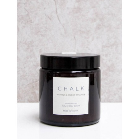 Chalk Home Neroli and sweet Orange Amber Glass Apothecary Small Candle Jar - Multicoloured