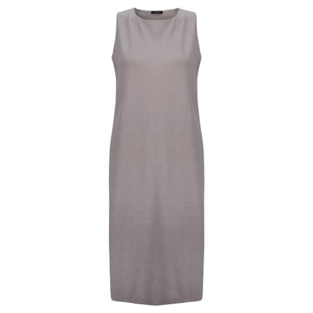 Chalk Claire Organic Jersey Fitted  Dress - Grey