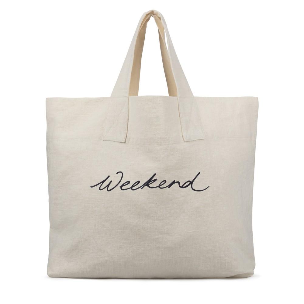 Chalk Weekend Shopper Off White / Dark Grey