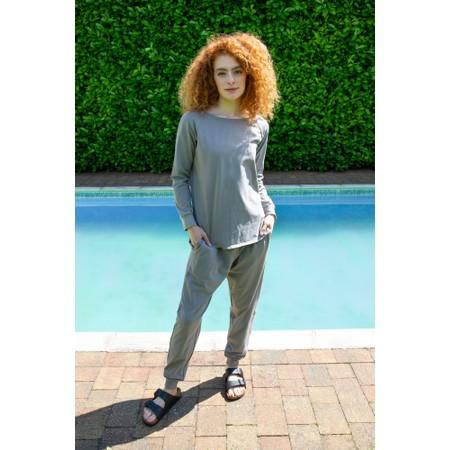 Chalk Sarah Organic Cotton Pant - Grey