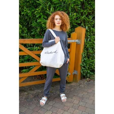 Chalk Sarah Organic Cotton Pant - Black