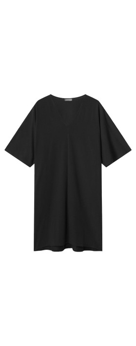 Chalk Pippa Plain Organic Jersey Dress Black