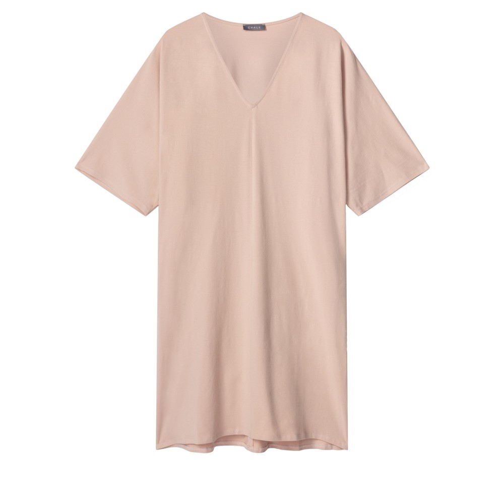 Chalk Pippa Plain Organic Jersey Dress Dusky Pink