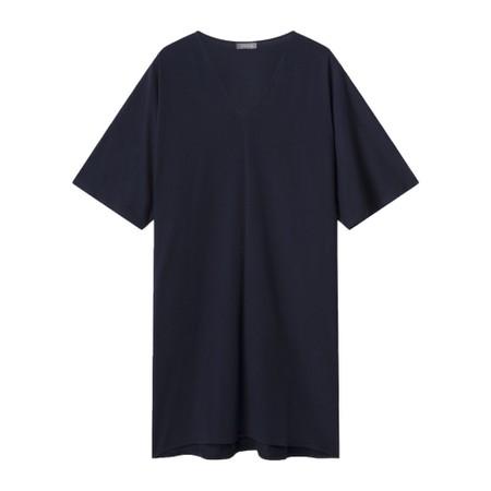 Chalk Pippa Plain Organic Jersey Dress - Blue