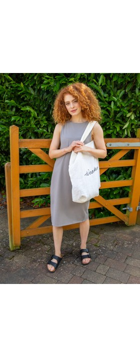 Chalk Claire Organic Jersey Fitted  Dress Mouse