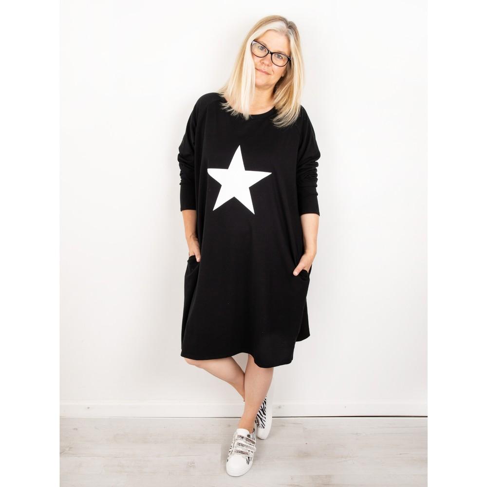 Chalk Brody Star Dress Black / White