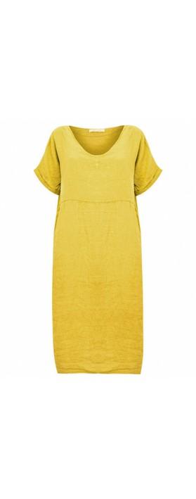 Amazing Woman Tesa Midi Linen dress  Bamboo