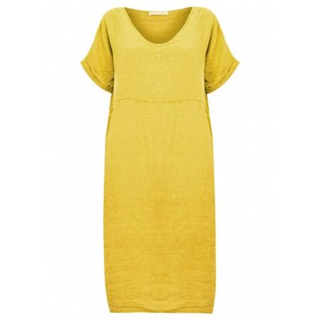 Amazing Woman Tesa Midi Linen dress  - Yellow