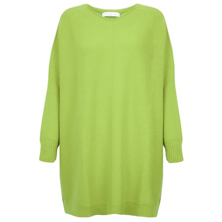 Amazing Woman Cassi X Round Neck Front Seam Knit - Green
