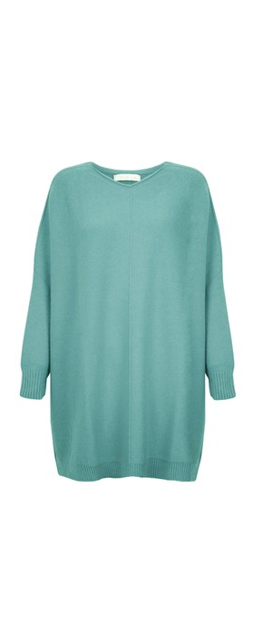 Amazing Woman Cassi X Round Neck Front Seam Knit Opal