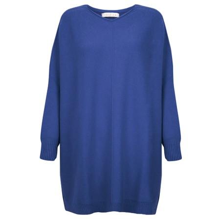 Amazing Woman Cassi X Round Neck Front Seam Knit - Blue