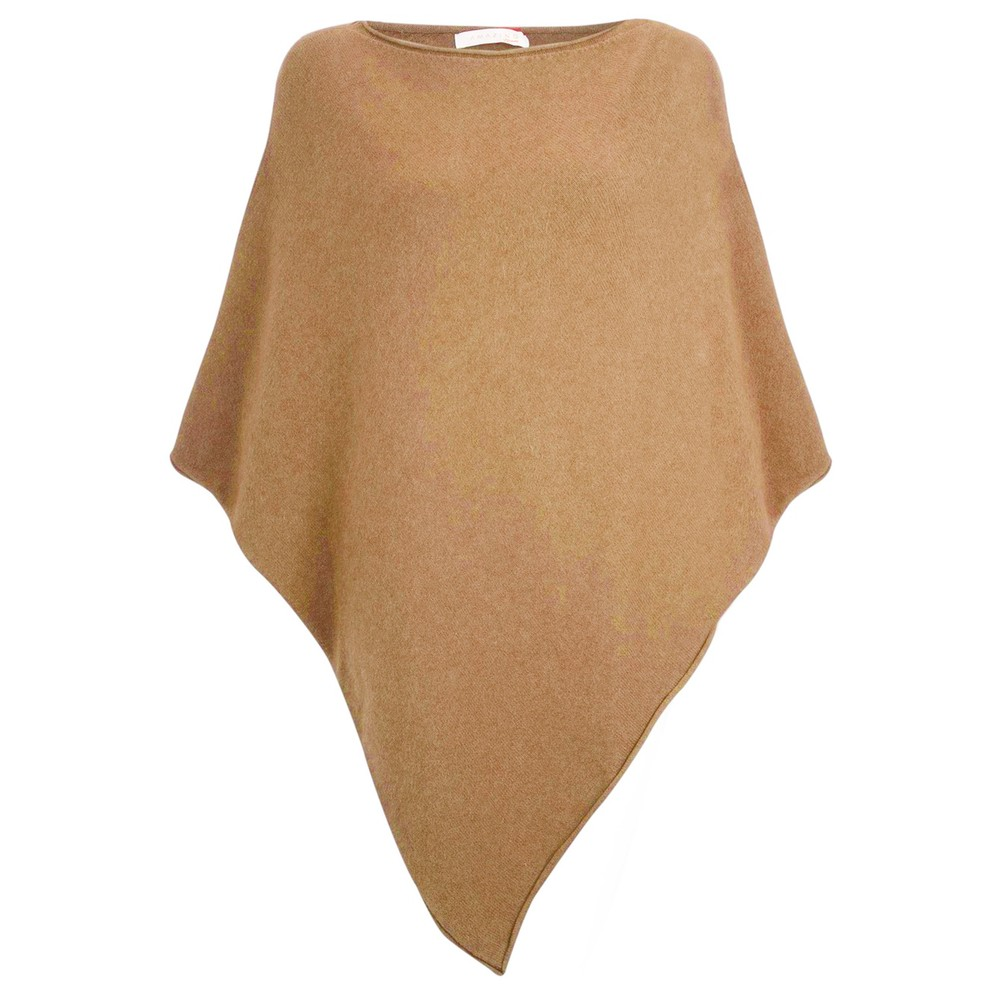 Amazing Woman Poncho in Supersoft Knit  Caramel