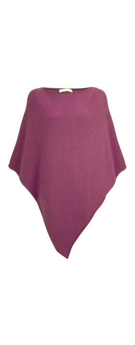 Amazing Woman Poncho in Supersoft Knit  Plum