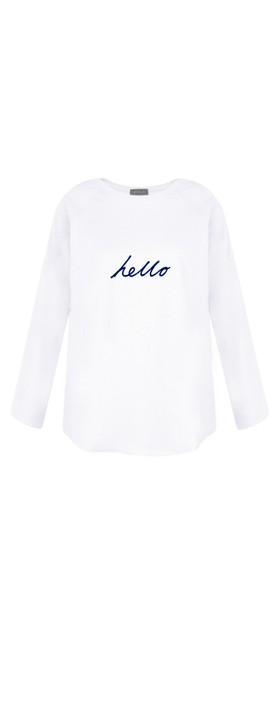 Chalk Tasha Hello Top White / Navy
