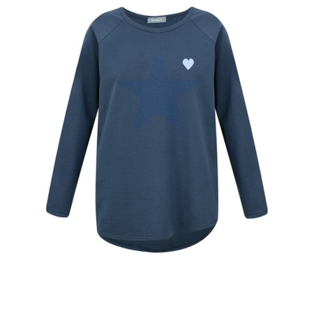 Chalk Tasha Heart Top - Blue
