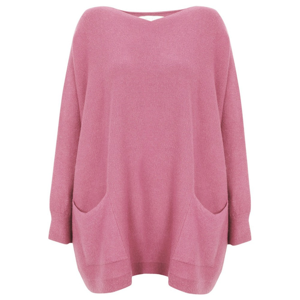 Amazing Woman Caryf X Round Neck Oversized Jumper Orchid