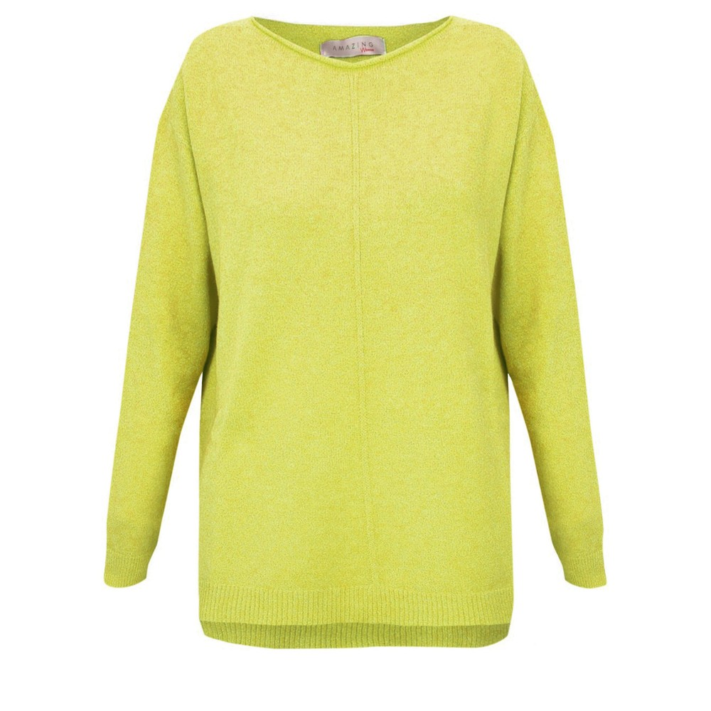 Amazing Woman Maggie Seam Front Supersoft Jumper Pear