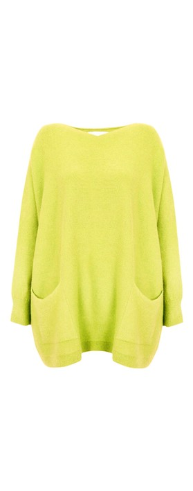Amazing Woman Caryf X Round Neck Oversized Jumper Pear