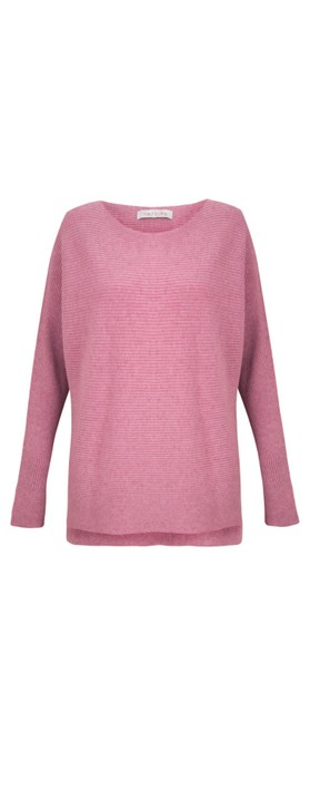Amazing Woman Celia Round Neck Ribbed Knit Orchid