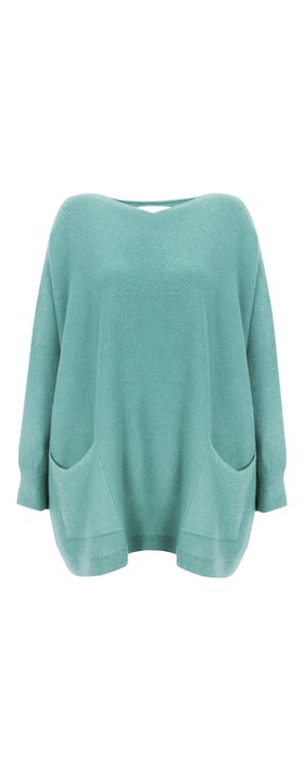 Amazing Woman Caryf X Round Neck Oversized Jumper Opal