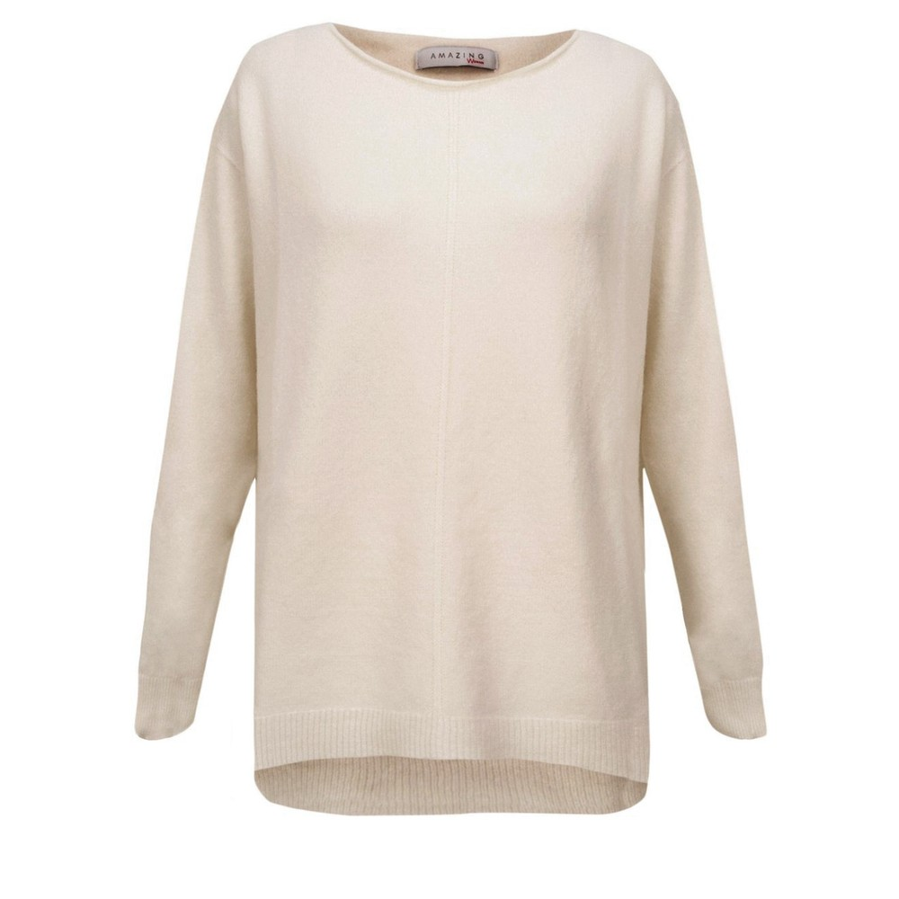 Amazing Woman Maggie Seam Front Supersoft Jumper Ivory