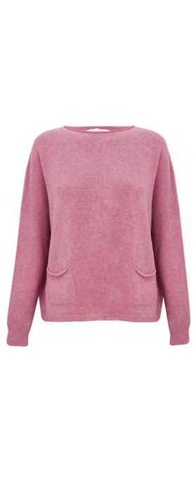 Amazing Woman Jodie Front Pocket Supersoft Knit Jumper Orchid