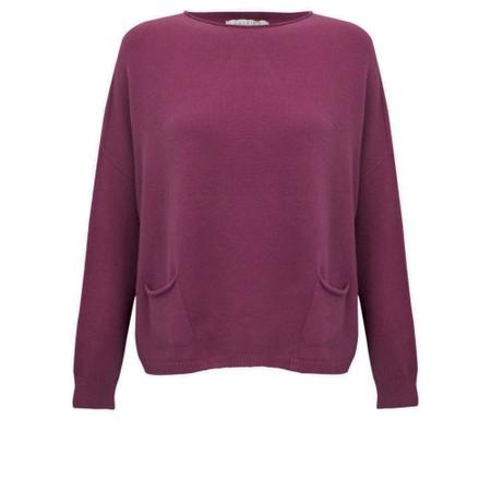 Amazing Woman Jodie Front Pocket Supersoft Knit Jumper - Purple
