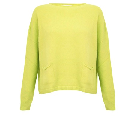 Amazing Woman Jodie Front Pocket Supersoft Knit Jumper - Green