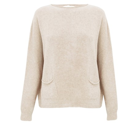 Amazing Woman Jodie Front Pocket Supersoft Knit Jumper - Off-White