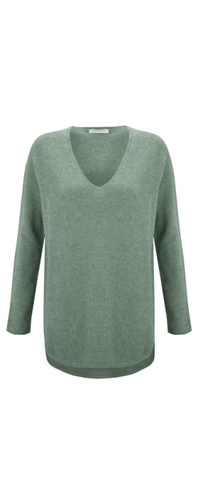 Amazing Woman Perrie V Neck Jumper Olive