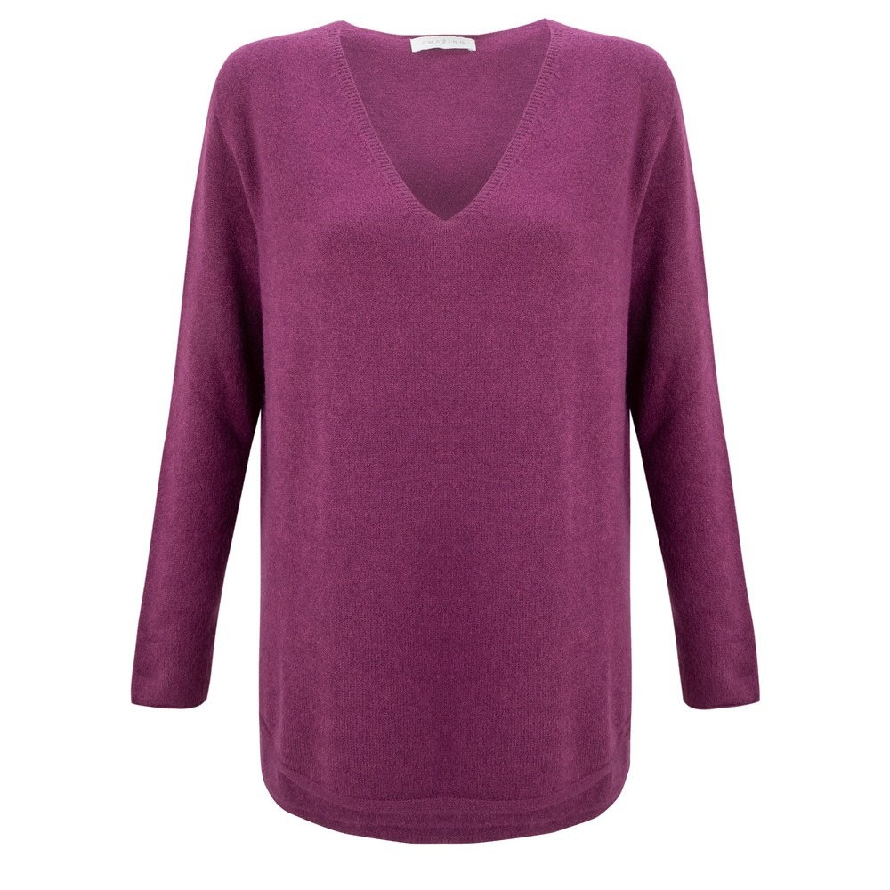 Amazing Woman Perrie V Neck Jumper Plum