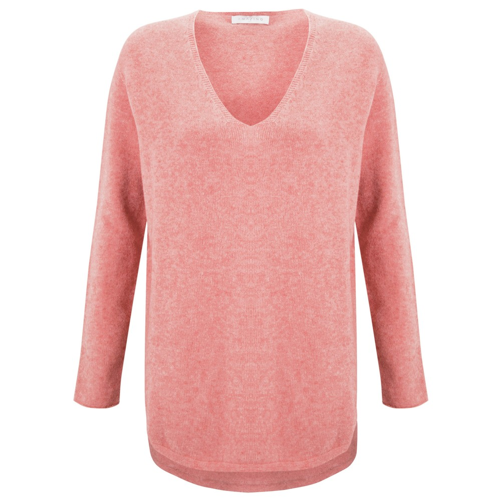 Amazing Woman Perrie V Neck Jumper Blusher