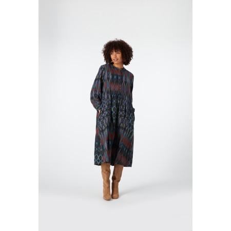 Sahara Patched Ikat Print Dress - Multicoloured