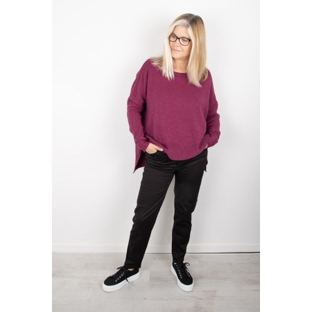Amazing Woman Judy SuperSoft Highlow Jumper - Purple